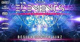 Party Flyer Elements Festival - Design Center Linz 14 Oct '17, 21:00