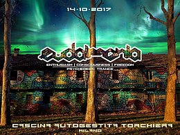 Party Flyer Eudaimonia / Cascina Torchiera / Milano 14 Oct '17, 21:00
