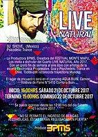 Party Flyer Live Natural 2017 // Por MonteMapu 21 Oct '17, 16:00