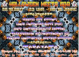 Party Flyer HALLOWEEN meets GOA 28 Oct '17, 23:00