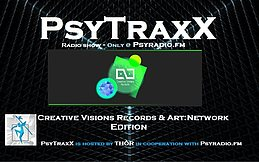 Party Flyer PsyTraxX (Radio Show) - Creative Visions Records & Art:Network 28 Oct '17, 20:00