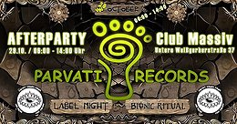 Party Flyer Parvati Labelnight - Afterparty by Crispy Chaos Crew 29 Oct '17, 06:00