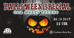 Party Flyer Halloween Special - Goa meets Techno - Goazilla Birthday Bash 30 Oct '17, 23:00