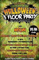 Party Flyer Psychedelic Halloween / 3 Floor Party / at Klangstation 31 Oct '17, 22:00