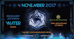 Party Flyer Visions Of Paradise / The 3rd Element. Water 4 Nov '17, 22:30