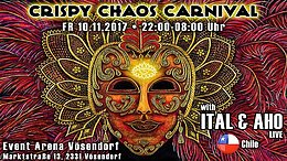 Party Flyer Crispy Chaos Carnival - with ITAL & AHO 10 Nov '17, 22:00