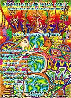 Party Flyer Psychedelic Birthday Party (Celebration) 18 Nov '17, 18:00