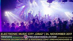 """Party Flyer Electronic Music City """"Psytrance Night"""" 24 Nov '17, 23:00"""