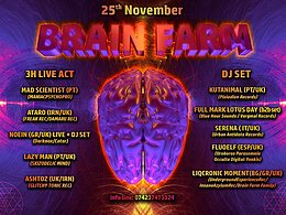 Party Flyer BrainFarm Pres... MadScientist & 4 LiveActs 25 Nov '17, 22:00