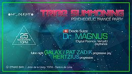 Party Flyer Tribe Summoning 2 - psychedelic trance 25 Nov '17, 21:00