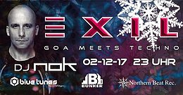 Party Flyer Exil - Goa meets Techno - NOK 2 Dec '17, 23:00