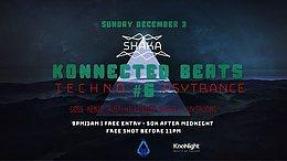 Party Flyer Konnected Beats #6 3 Dec '17, 21:00