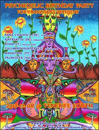 Party Flyer Psychedelic Birthday Party 8 Dec '17, 18:00
