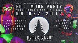 Party Flyer Full Moon Party - Karlsruhe 9 Dec '17, 23:00