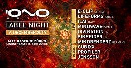 Party Flyer IONO NIGHT Zürich 9 Dec '17, 23:00