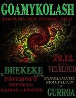 Party Flyer ॐ GoaMykoLash w Brekeke ॐ 20 Dec '17, 20:00