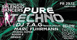 Party Flyer Pure Techno | BELOW 83 29 Dec '17, 23:55