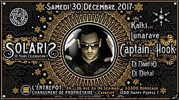 Party Flyer ❊ Solaris :: Captain Hook ❊ Lunarave ❊ Kalki ❊ Daad'Oo ❊ Dizkal 30 Dec '17, 23:00