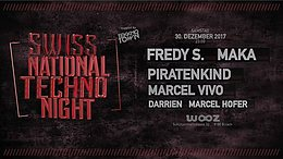 Party Flyer Swiss National Techno Night 30 Dec '17, 23:00