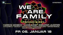 Party Flyer We Are Family: Yannick Weineck, Lucid Blow & many more 5 Jan '18, 22:00