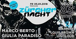 Party Flyer ZÜRCHER NACHT 5 Jan '18, 23:55