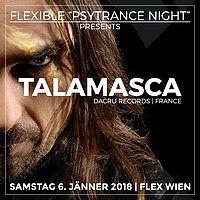 """Party Flyer Flexible """"Psytrance Night"""" mit Talamasca live & Djane Gaby 6 Jan '18, 23:00"""