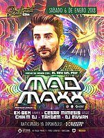 Party Flyer MAD MAXX: el Rey Mago del Psy! 6 Jan '18, 23:30