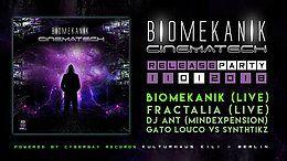 Party Flyer CyberThursday vol.4 - Biomekanik - Cinematech release party 11 Jan '18, 23:00