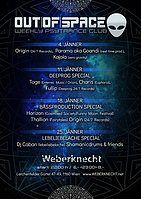 Party Flyer OUT of SPACE Deeprog Special 11 Jan '18, 22:00