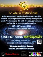 Party Flyer Golden Bass Music Festival 12 Jan '18, 14:00