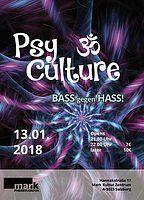 Party Flyer PsyCulture (Bass gegen Hass) #3 13 Jan '18, 21:00