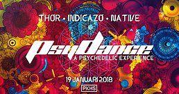 Party Flyer PsyDance w/ THÔR, Indicazo & Native 19 Jan '18, 22:00