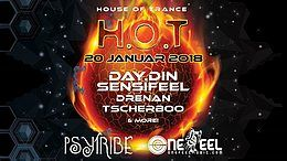 Party Flyer H.O.T (House of Trance) mit Day.Din und Sensifeel 20 Jan '18, 23:00