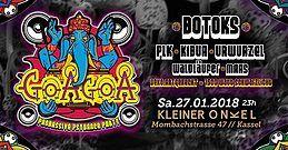 Party Flyer ॐ GoaGoa XL ॐ 2 Floors ॐ 1500 Watt Schwarzlicht ॐ 27 Jan '18, 23:00