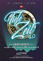 Party Flyer TIEFE ZEIT 4.0 27 Jan '18, 23:00