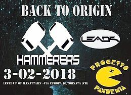 Party Flyer BACK TO ORIGIN - Hammerers Leads e Progetto Pandemia 3 Feb '18, 23:00
