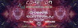 Party Flyer Cohesion Psytrance Adventure @ Club 414 > Champa & Contineum LIVE! 3 Feb '18, 23:00
