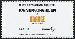 Party Flyer Rainer von Vielen & Orange // Konzert + Party 3 Feb '18, 21:00