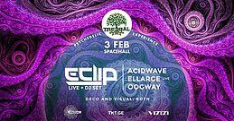 Party Flyer TREEBAL: E-CLIP • ACIDWAVE • ELLARGE • OOGWAY at SPACEHALL 3 Feb '18, 23:00