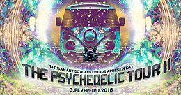 Party Flyer Urban Antidote and Friends Apresenta: The Psychedelic Tour II 3 Feb '18, 23:59