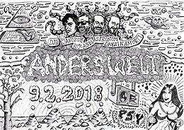 Party Flyer Anderswelt /// Daksinamurti / Janosch / Astronom / Psy-Andi 9 Feb '18, 23:00
