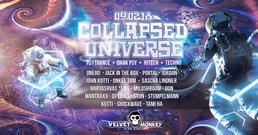 Party Flyer Collapsed Universe w/ Onero,Haryashvas,Atomic Engine,Portal 9 Feb '18, 23:00