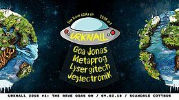 Party Flyer Urknall 2018 #1: The Rave GOAs on! 9 Feb '18, 23:00