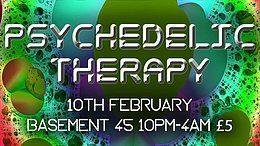 Party Flyer Psychedelic Therapy: Bristol Session 1 10 Feb '18, 22:00