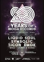 Party Flyer 20 Years of Iboga Records 16 Feb '18, 22:00