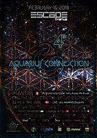 Party Flyer Aquarius Connection 4 | E - Mantra ॐ 16 Feb '18, 23:00