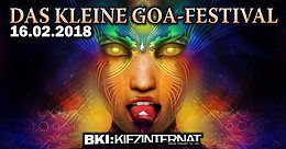 Party Flyer DAS KLEINE GOA FESTIVAL 16 Feb '18, 22:00