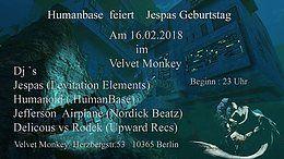 Party Flyer Humanbase feiert Jespas Birthday 16 Feb '18, 23:00