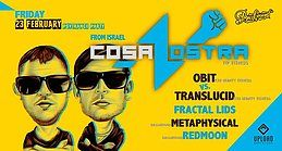 Party Flyer CosaNostra (Israel): Another Magic night of PSY! 23 Feb '18, 23:55