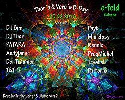 Party Flyer Thor´s & Vero`s Birthday Party 23 Feb '18, 22:00